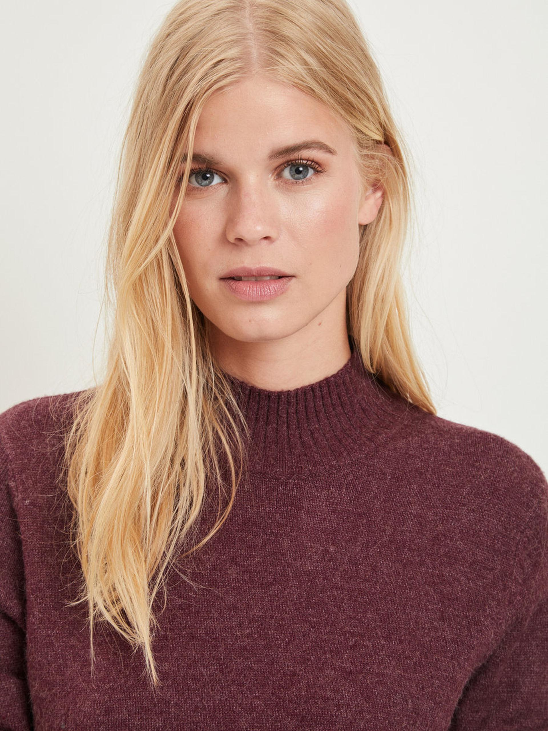 ef1d3f09 VIRIL, strikket pullover, vinrød - Tøj, sko, tilbehør - Comfort & Style