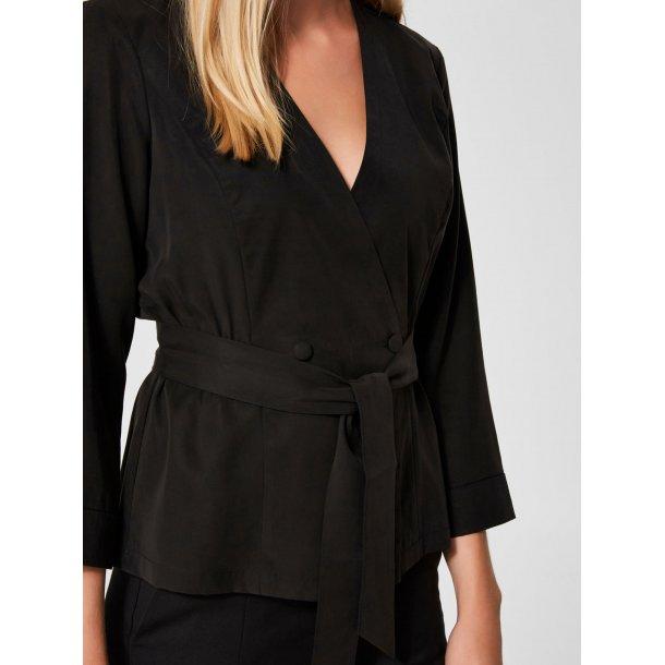 6545d1ea43b Foretrukne MIKKA, silke-kimono, sort - Tøj, sko, tilbehør - Comfort